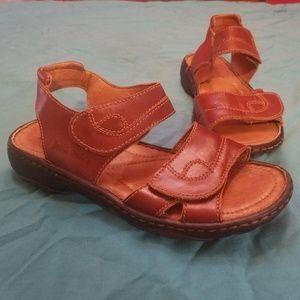 Josef Seibel Women's Brown Slingback Sandal Sz 36